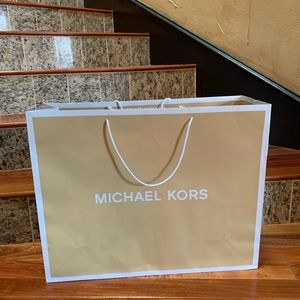 Michael kors large retail paper bag gift bag